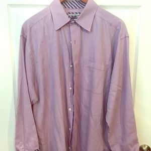 Johnston and Murphy lavender button down